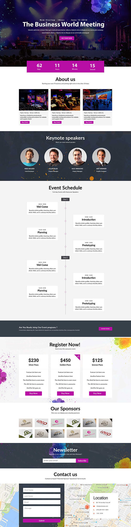 event-landing-page Template