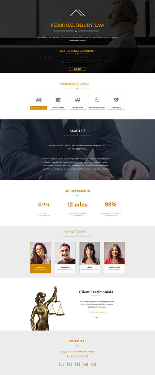lawyer landing page2