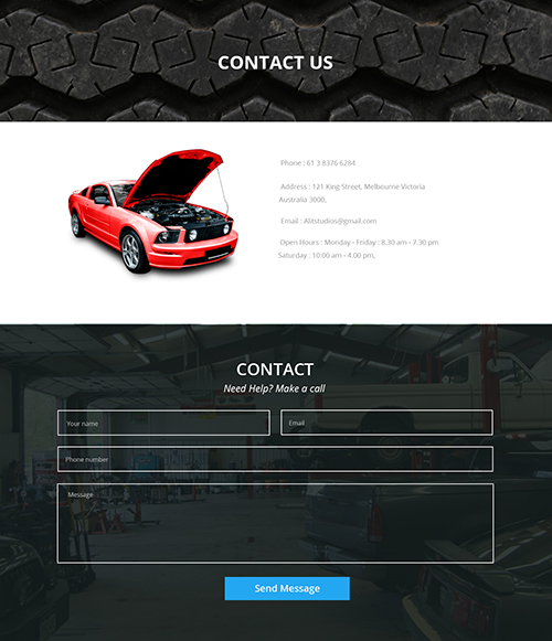 Auto garage contact