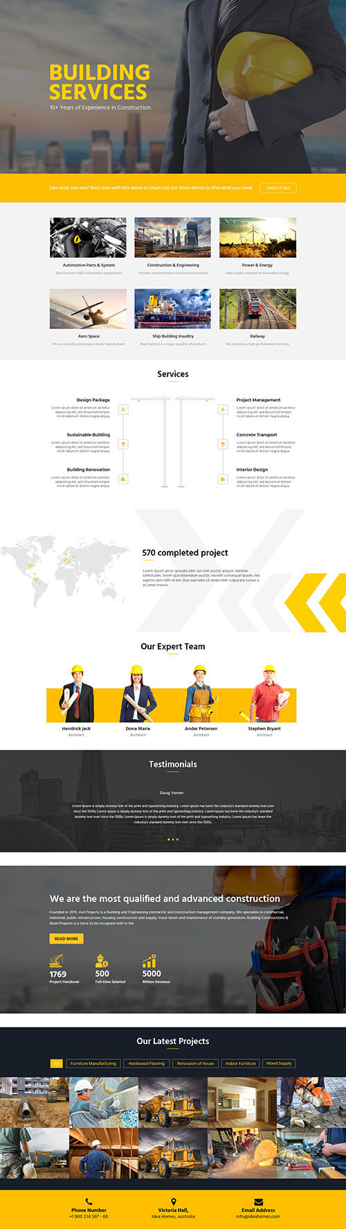 business landing Template
