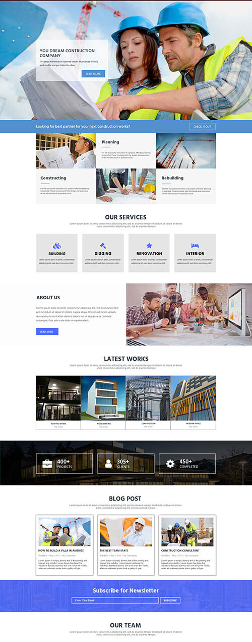 business landing Ninaj builder